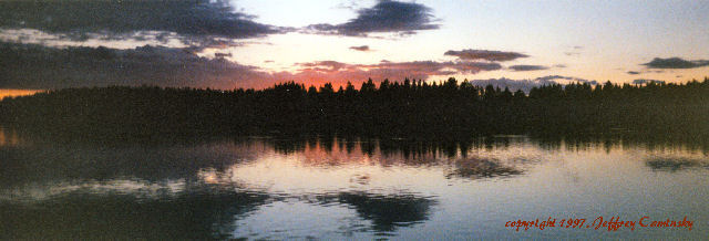 Sunset on Medicine Lodge Lake